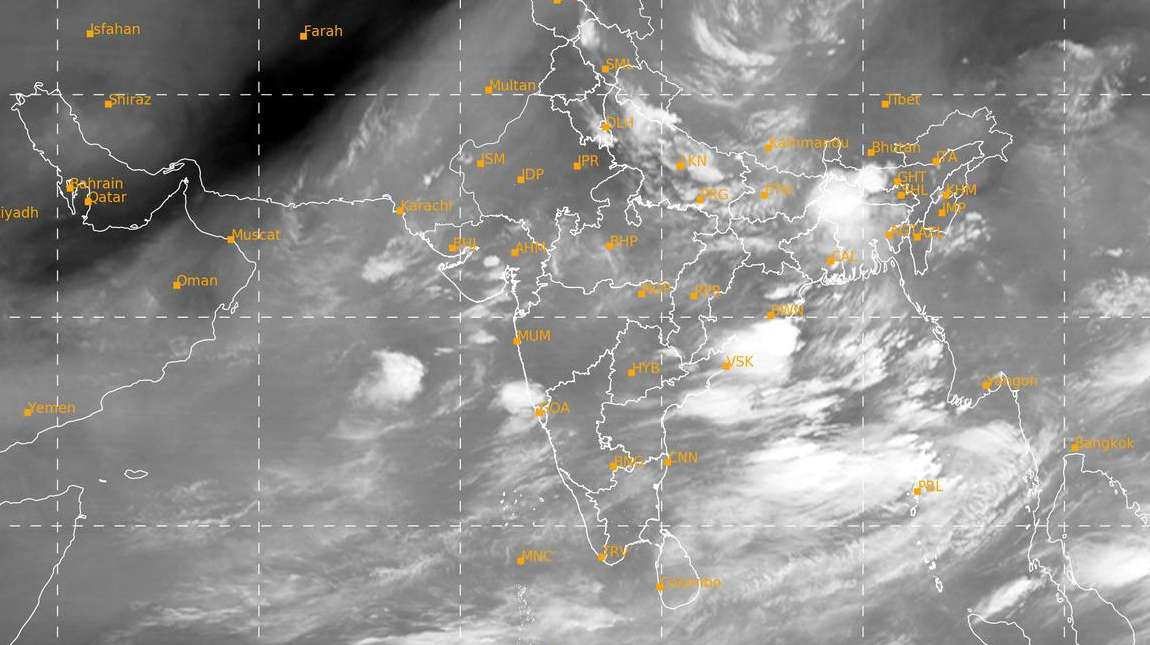 INSAT 3D Asia sector : Water Vapor