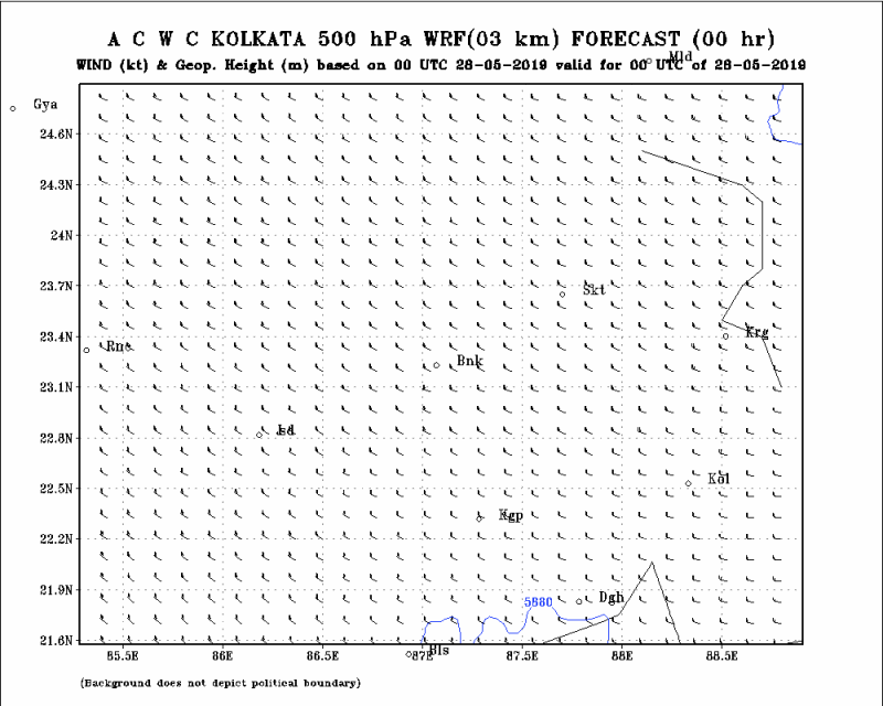 500 HPa Wind and GPM