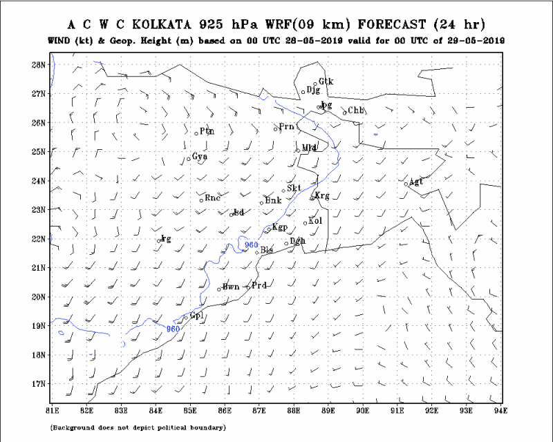 925 HPa Wind and GPM